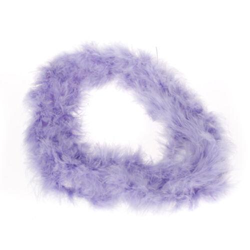 Light Purple Feather Boa Strip Fluffy Craft Costume Dressup Wedding Xmas