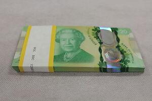 CONSECUTIVE-5-x-20-Queen-039-s-Historic-Reign-Canada-NEW-Commemorative-Note-Set