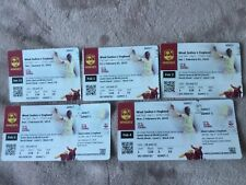 WEST INDIES v ENGLAND 2019 CRICKET ANTIGUA TEST MATCH TICKET DAYS 1.2.3 USED 4.5