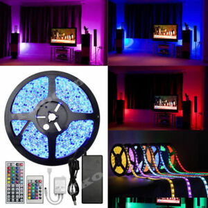 5 100m smd led strip lights tv back light rgb colour changing image is loading 5 100m smd led strip lights tv back aloadofball Images