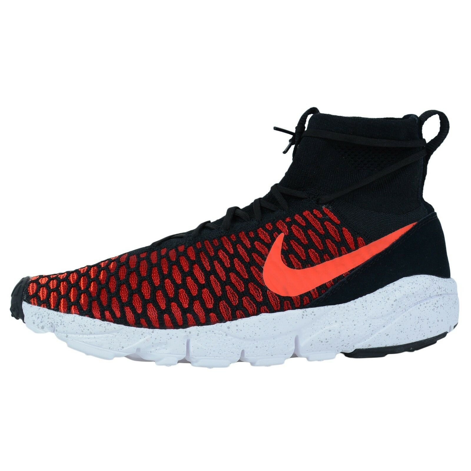 Nike air footscape magista flyknit turnschuhe karmesinrot schwarz helle karmesinrot turnschuhe 816560 002 2fdba9