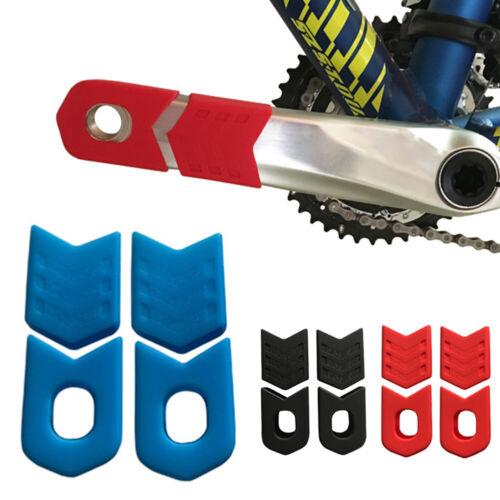 BT/_ 4Pcs Silicone Crank Sleeve Crankset Bicycle MTB Bike Arm Boots Protective Co