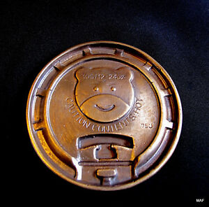 Cast-Bronze-034-Bear-Coffee-Cup-Cover-034-Original-Unique-Sculpture-Paperweight