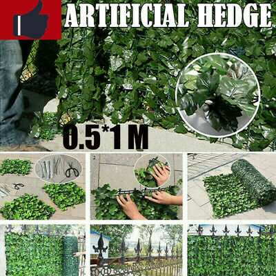 8PCS Artificial Hedge Ivy Leaf Garden Fence Privacy Screen Mesh Outdoor
