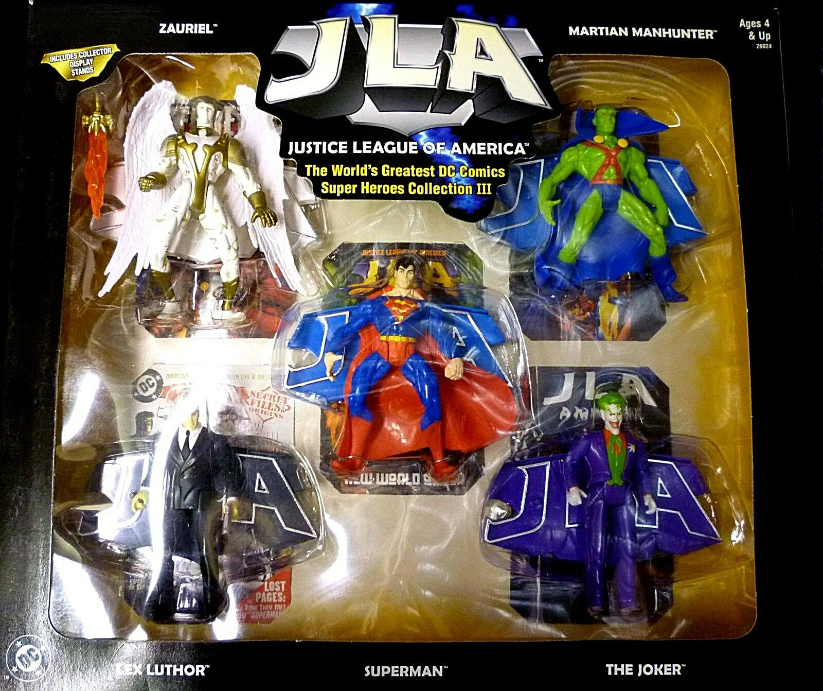 JLA Superheros Set 3 Boxed 5 Figure  Collection Set DC Comics 1999 Amricons  10 jours de retour