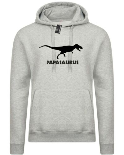 Papasaurs Hoodie Hoody Hood Funny Gift for Birthday Papa Father/'s day Dad daddy