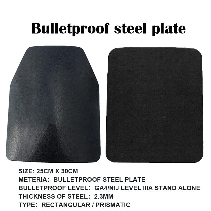 IIIA Stand Alone Safety Trauma Pads Body  Armor Police Bulletproof Steel Plates  comfortable