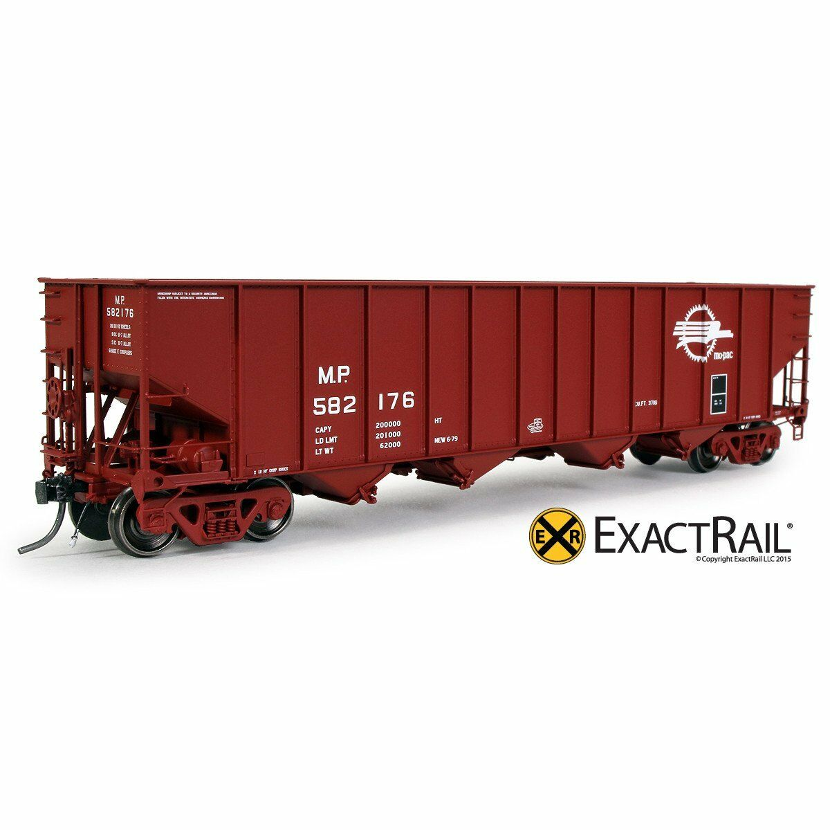 Exact Rail Platinum HO Missouri Pacific 3737 Hopper 582252 NEW EP-81509-9