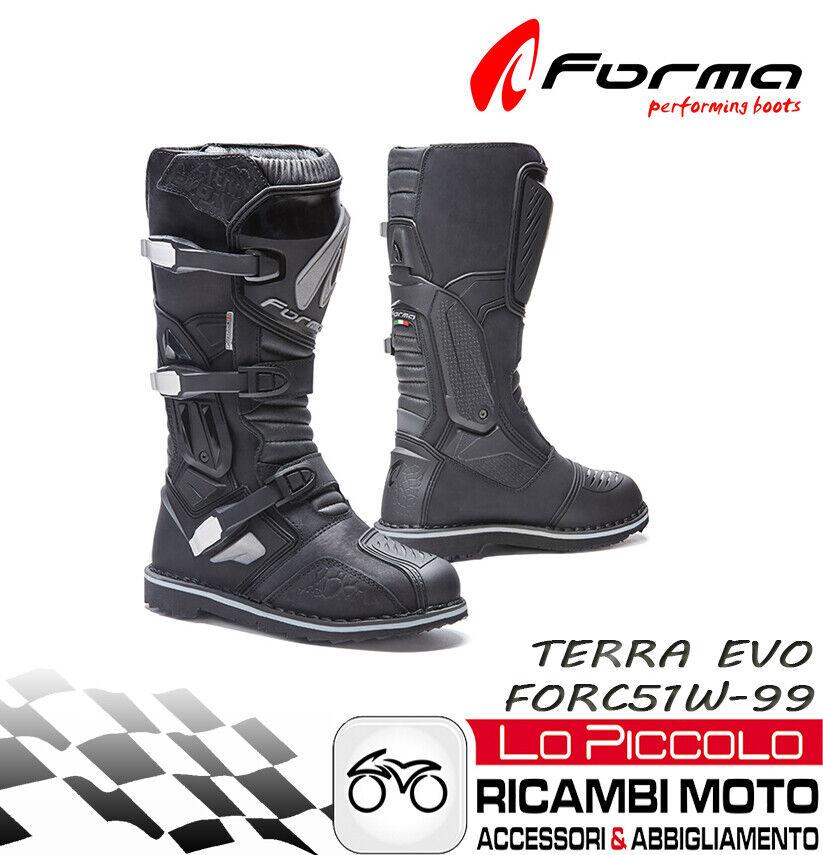 Forma Evo Terra Boot High Black Motorcycle Off Road Atv Quad Measure 42
