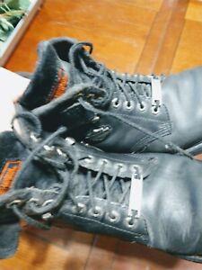 Harley Davidson Mens Black Motorcycle Boots 91017 Mens Size 11 Harley Ebay