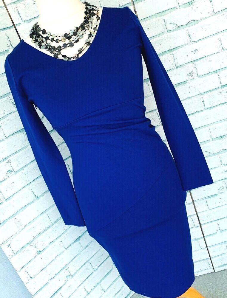 * Bnwt * Pied A Terre Bleu Cobalt Straight Dress Sz 12 Uk Wiggle Crayon/b6