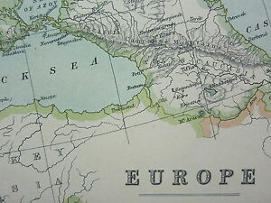 image is loading 1910 map europe austria hungary turkey spain france