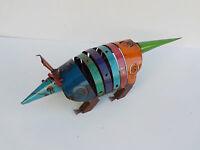 Metal Art Metal Armadillo Sculpture 24 1/2