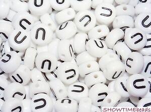 """7mm Kleinloch-Buchstaben-Perle """"Z"""" aus Acryl 30 Stück"""