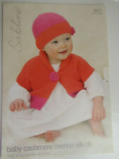 Sublime Baby Cardigan /& Hat Cashmere Merino Silk Knitting Pattern 6016 D...