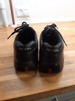 Sneakers, Prada, str. 45,5, Sort, Læder