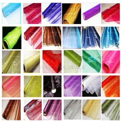 Edged ORGANZA FABRIC DRAPING SWAGS DOOR BOWS WEDDING TABLE RUNNERS MATERIAL 9M
