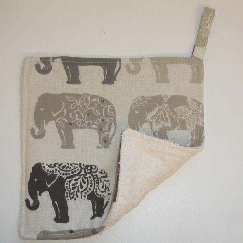 ELEPHANT cuisine pot attrape Mat Pan Support Surface Saver Pad Gris Marron éléphants