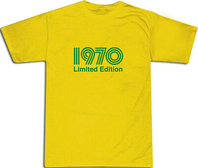 1970 Limited Edition Green Text Cool T-shirt S-xxl # Yellow Strukturelle Behinderungen