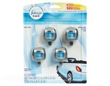 Febreze Car Vent Clips 8ml Air Freshener Linen & Sky, 4 Count