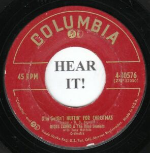 Im Gettin Nuttin For Christmas.Details About Ricky Zahnd Xmas Nvlty 45 Columbia 40576 I M Gettin Nuttin For Christmas