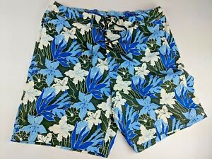 fe6a4c2b6cdf4 Image is loading Chaps-Hawaiian-Swim-Trunks-Floral-Flowers-Tropical-Vacation -