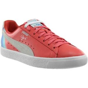 Image is loading Puma-Pink-Dolphin-Clyde-Sneakers-Pink-Mens c9eabe12e