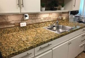 Counter Top Faux Granite Look Vinyl Contact Paper Film Overlay Roll 6ft Gold