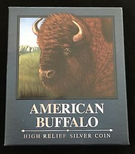 2014-P-Tuvalu-Silver-American-Buffalo-Packaging-OGP-Only-No-Coin
