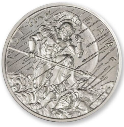 The Spartan Molon Labe III  1 oz .999 Silver BU Round Leonidas Come And Take It