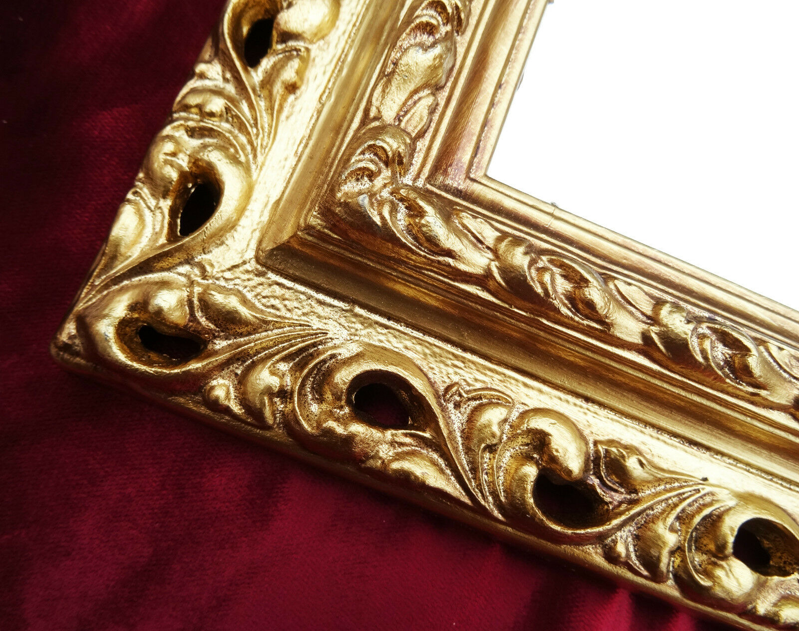 wall mirror 43x36 mirror baroque rectangular gold picture frame arabesco 3 ebay. Black Bedroom Furniture Sets. Home Design Ideas