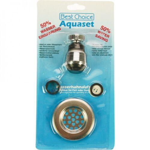 Wasserhahnaufsatz Abfllusssieb Wasserspar Set Schwenkstrahl