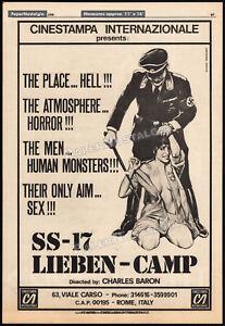 SS-17-LIEBEN-CAMP-Original-1976-Trade-AD-poster-Nazi-Horror-Exploitation