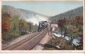Postcard Railroad Boston & Albany Railroad Near Huntington MA in Berkshires