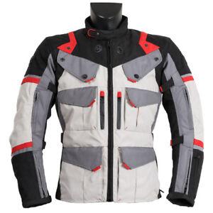 Giacca-Moto-Uomo-Prexport-Goteborg-Ghiacchio-Rosso-3-Strati-4-Stagioni