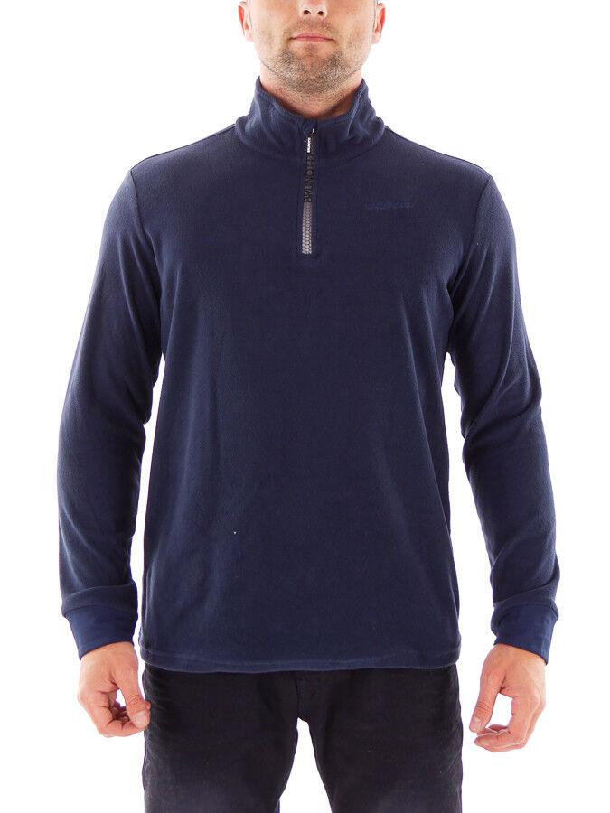 Brunotti Fleece Upper Part Functional Sweater Tenno Dark bluee Zip  Insulating  save 50%-75%off