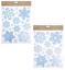80x-Grande-Natale-Fiocco-Di-Neve-Finestrino-Adesivi-Glitter-finestra-si-aggrappa-Riutilizzabile miniatura 3