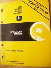 Original John Deere 4000 5000 Portable Generators Operators Manual