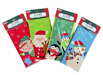 "Other Bath & Body Supplies Set Of 40 Christmas Treat Bags Bath & Body 4 Different Designs 9'""x 4 1/2"" X 2 1/2"""