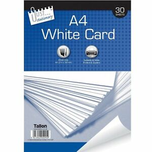New-A4-150GSM-Plain-White-Card-Paper-Printer-Office-Home-Copy-Printing-30-Sheets
