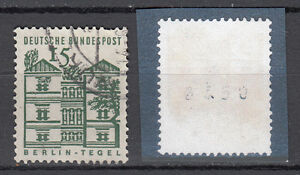 BRD-1964-Mi-Nr-455-R-Gestempelt-Rollmarke-mit-Nr-TOP-20101