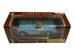 1957-Chevrolet-Corvette-Convertible-Baby-Blue-with-White-NIB-by-Road-Tough-1-24