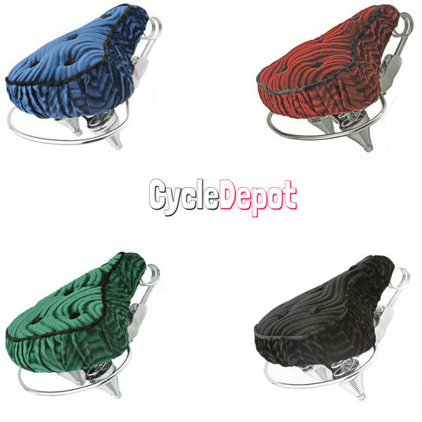 Beach Cruiser Velour Seat Lowrider Bike Seat Chopper Bike 4 DIFFERENT ColoreeeS