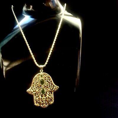 New 14k Gold Hamsa hand Pendant