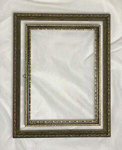 Lot-2-Gold-Gilt-Black-Carved-Ornate-Wood-Picture-Frame-Fits-6-5x8-5-5x7-Art-Deco