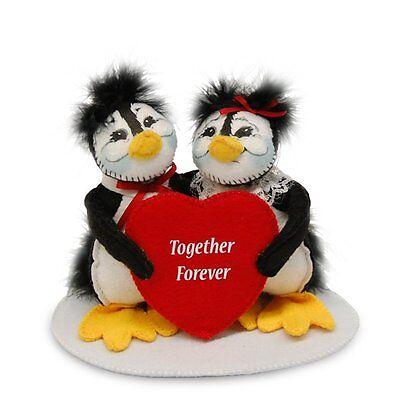 "TOGETHER FOREVER Valentine's Day PENGUINS 5"" Annalee Valentine Gift Decoration"