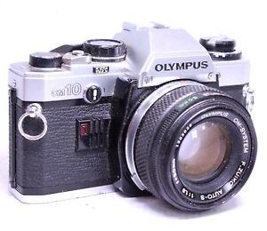 OLYMPUS-OM10-SLR-Camera-With-Olympus-50mm-f-1-8-OM-Mount-Lens-SPARES-S75
