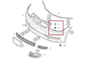 Painted or Primed BMW Front Left Head Lamp Wash Cover 1 Series E81 E82 E87 E88