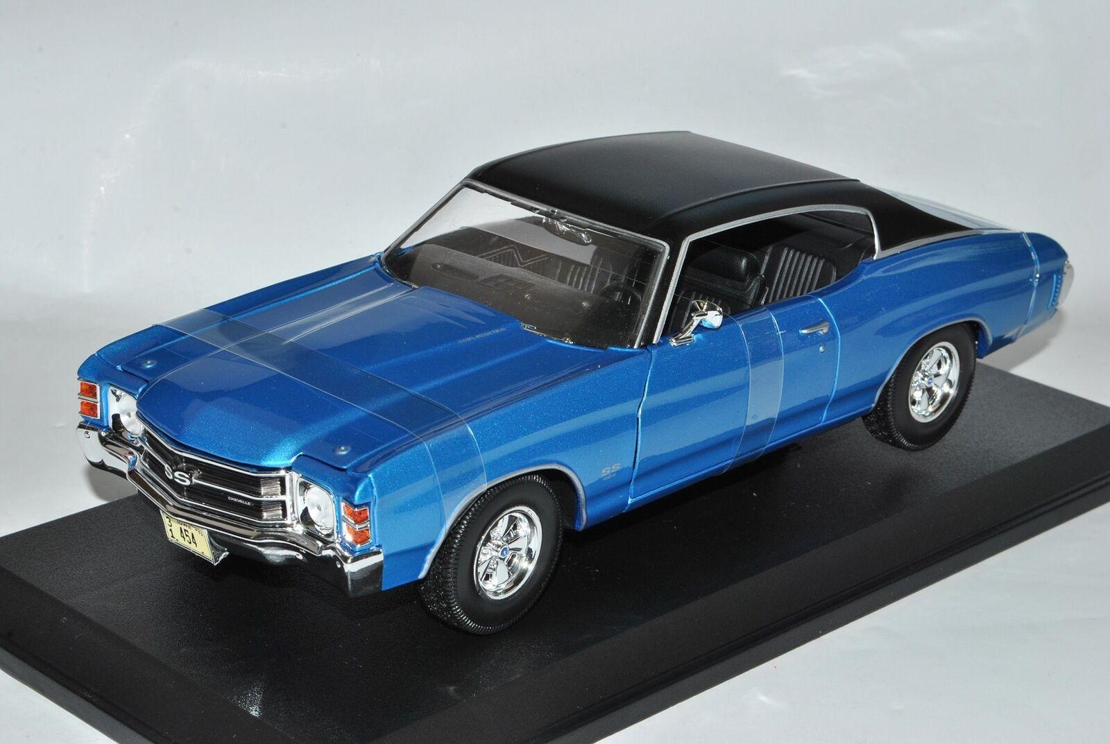 Chevrolet Chevy Chevelle SS454 Sport Coupe blue blue blue blackes Dach 1971 1 18 Maist.. 6e4b67