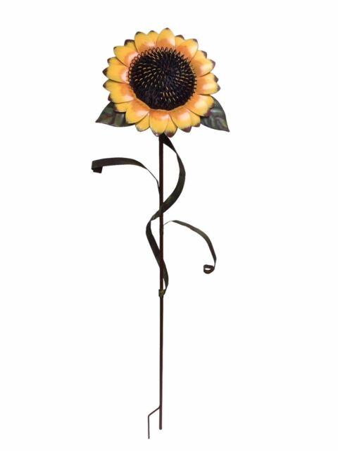 Large Sunflower Stake Metal Garden Yard Decor Lawn Decoration ...